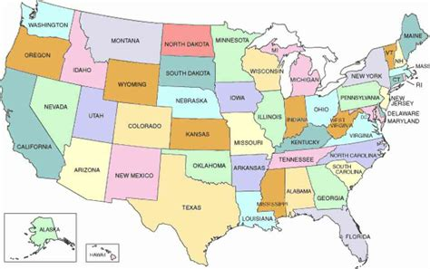 map united states with states a map of the fifty states map travel