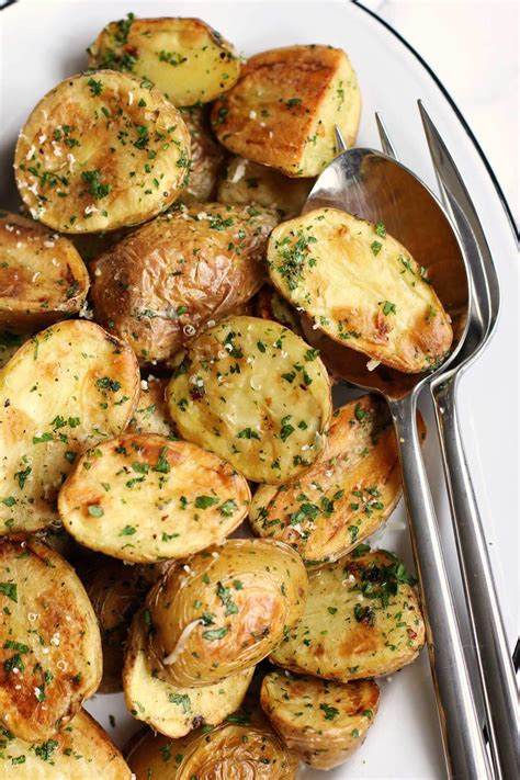 Green Valley Parmesan Cheese 80g roasted new potatoes with parmesan and fresh herbs green
