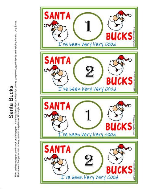 printable christmas elf reward chart santa bucks reward kids earn bucks during the holidays