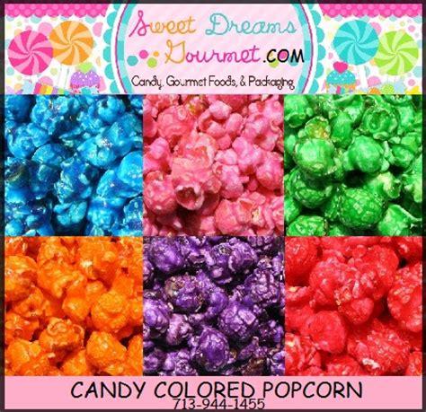 colorful popcorn sweet dreams gourmet gourmet foods coated