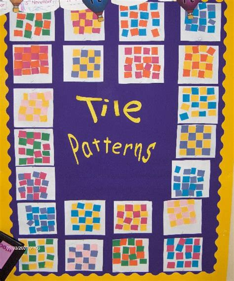 tile pattern in math tile patterns classroom display photo photo gallery