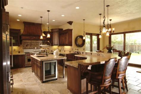 20 gorgeous kitchens with islands messagenote custom wood kitchen design showing off beautiful natural