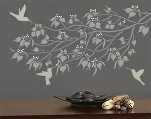 stencil for walls linden branch wall stencil reusable - Wall Decoration Stencils