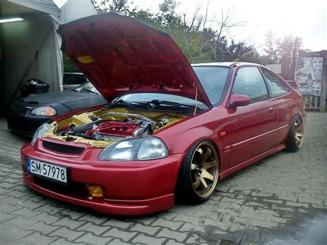 Fogl Ferio Civic 96 98 Yellow clean jdm honda civic coupe ej6 enginebay