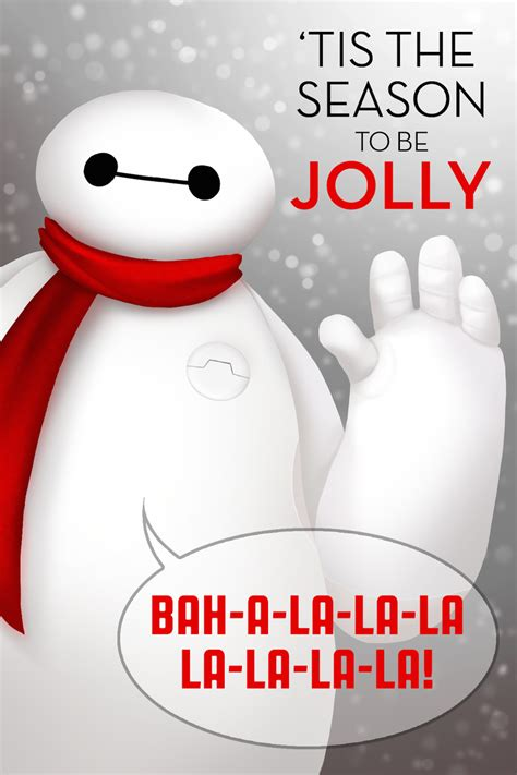 baymax wallpaper christmas adorable disney holiday cards oh my disney