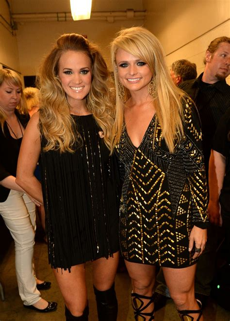 carrie underwood and miranda lambert stunned at the cmt
