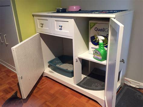 Meuble A Litiere diy meuble liti 232 re pour chat chats