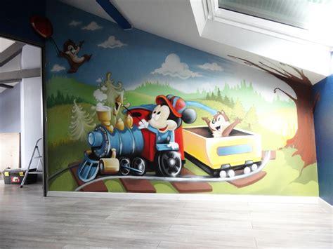 deco mickey chambre gimus d 233 coration chambre d enfant graffiti quot mickey tic
