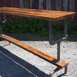 Patio Pub Tables Buy A Made Industrial Styled Bar Height Table With A Metal Pipe Base And Salvaged Wood