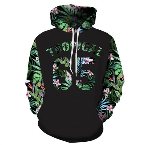 Hoodie Sweater Distro Leaf mr 1991inc green leaves hoodies 3d sweatshirts print number 65 letters flowers hooded