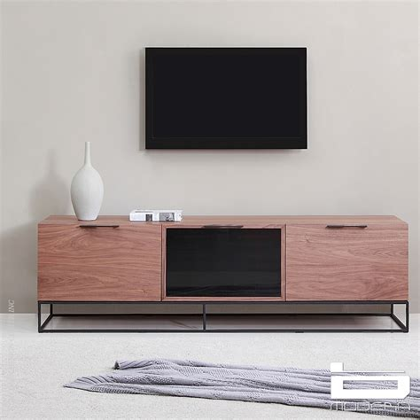 b modern animator walnut tv stands metropolitandecor - Modern Tv Stands