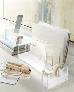 Acrylic Desk Organizer Set Acrylic Desk Accessories Contemporary Desk Accessories By Neiman