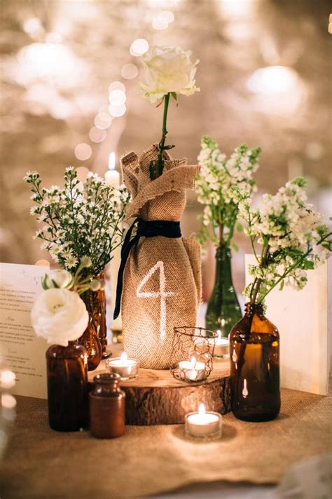 party on a larchfield estate wedding burlap table