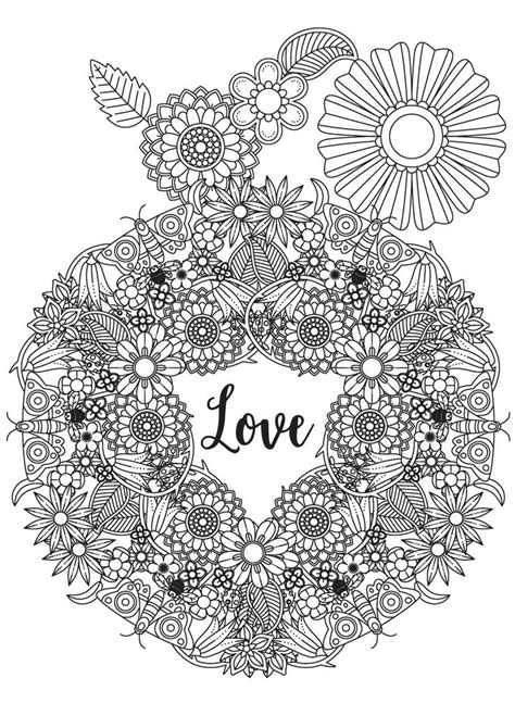 love mandala coloring pages 169 best hearts love coloring pages for adults images on