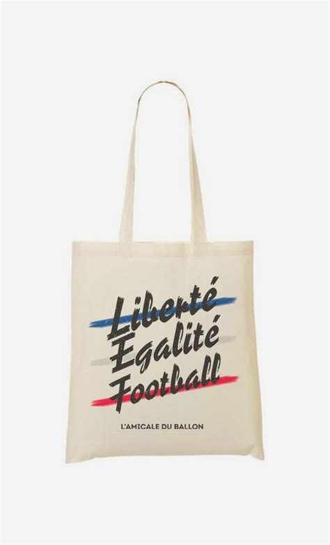 Totebag Football tote bag libert 233 egalit 233 football motifs color 233 s wooop