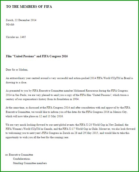 Customer Gift Letter fifa gave each of their members a complimentary copy of their godawful united passions