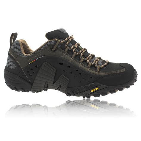 merrell walking shoes merrell mens intercept black grain trail walking