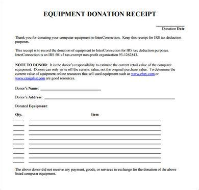 donation receipt sle template using the donation receipt template and its uses
