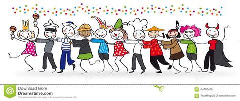 Kancing Bekleding mensen die carnaval vieren vector illustratie illustratie