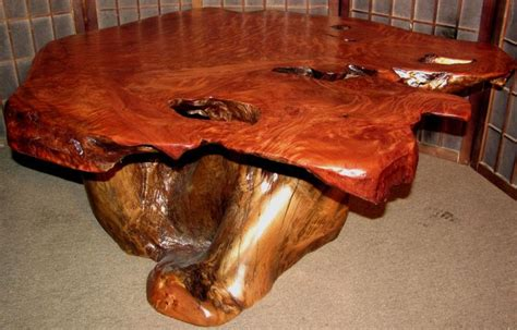 redwood burl coffee table for the home pinterest