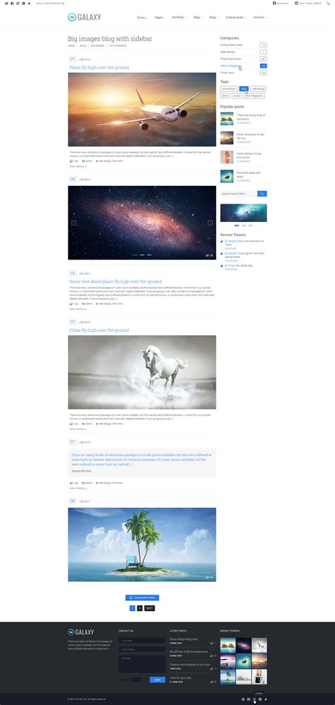 blogger themes galaxy the galaxy responsive multi purpose psd theme by design