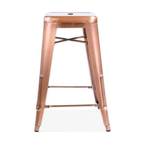 metal bar stool zoe kitchen 65cm industrial wood chair copper 65cm tolix style industrial stool kitchen stools