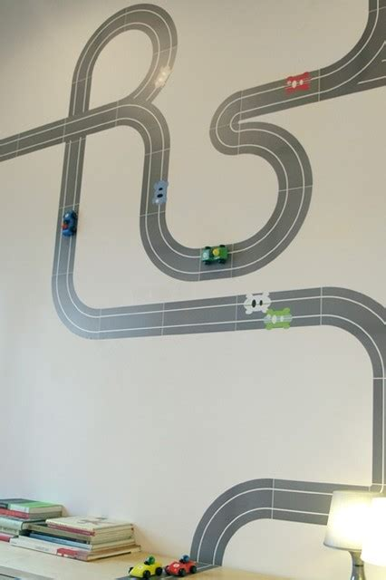 race track wall stickers race ya re stik modern wall decor by blik
