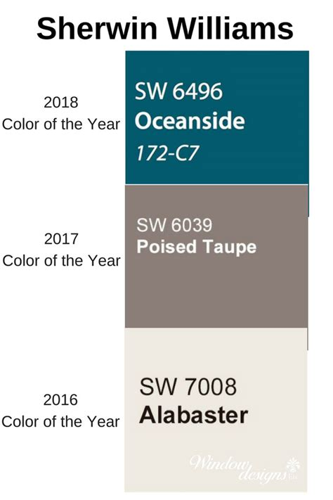 2016 color of the year sherwin williams oceanside 2018 color of the year