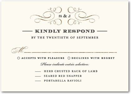 response card template wedding sit plated dinner rsvp cards can you post some pics