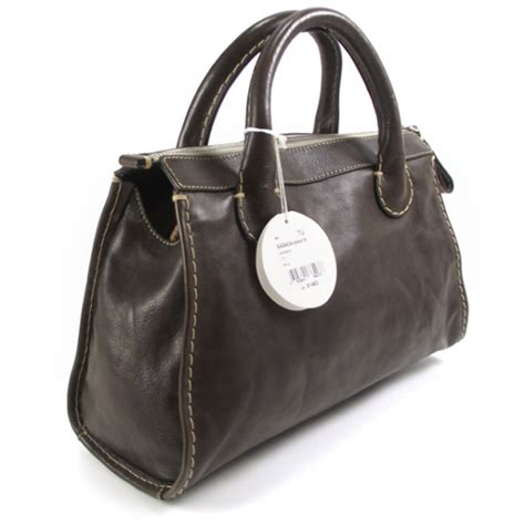 Edith Tote by Leather Edith Satchel Tote Brown 18724