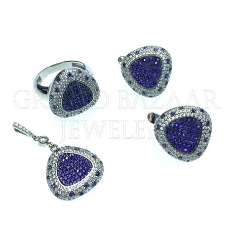 designer color gemstone jewelry sets gbj270st13001