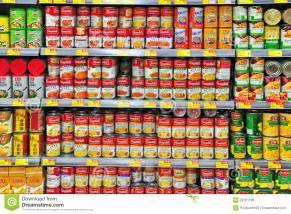 canned food at hong kong supermarket editorial photo