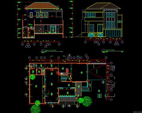 desain rumah minimalis  lantai autocad gambar foto desain rumah