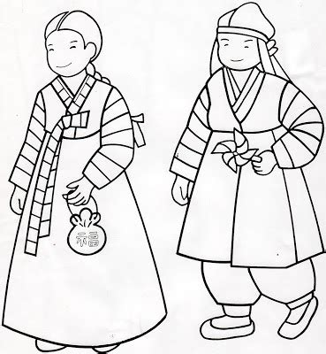 korean hanboks coloring pages just wedeminute