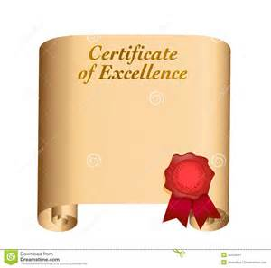 certificate of excellence illustration royalty free stock