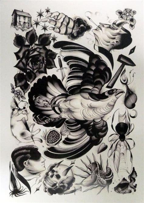 tattoo ink on sheets pari corbitt tattoo art flash sheet 06 by wainktattoo on