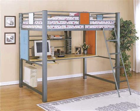 bunk bed with built in desk size loft bunk bed with built in study desk in