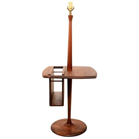 mid century floor l with table mid century modern walnut floor l with table and