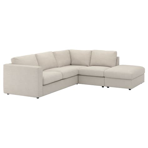 four seater corner sofa vimle corner sofa 4 seat with open end gunnared beige ikea