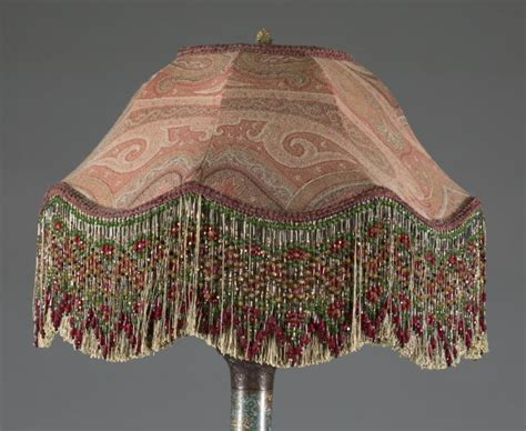 floor l with beaded shade cloisonne brass floor l with beaded shade