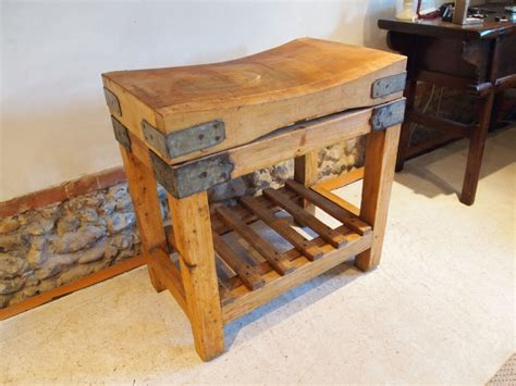 butchers block butchers block and stand c1910 247625 sellingantiques