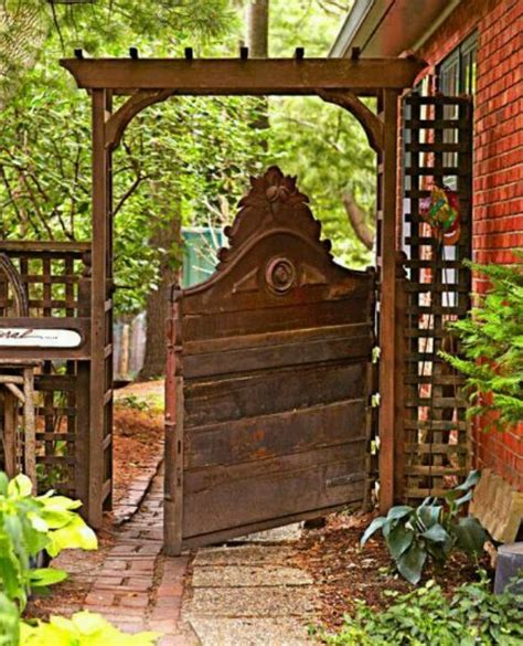 garden gate headboard headboard garden gate recycle repurpose re fun pinterest