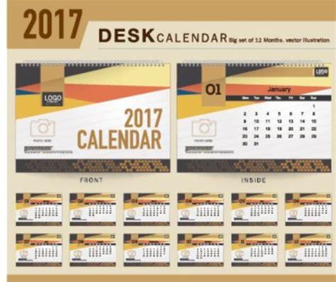 desk calendar design templates company 2017 desk calendar design vector template 09