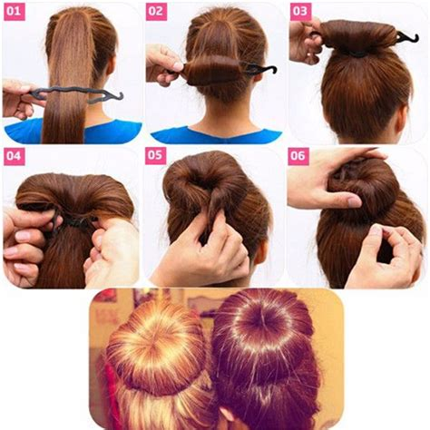 Hairstyles Accessories Bun Tool by Best 25 Bun Maker Ideas On Diy Hair Bun Maker