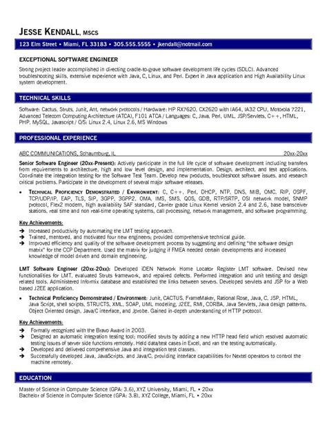 Best Resume Sles For Experienced Software Engineers Greatest Engineering Resume Exles On The Web Resume