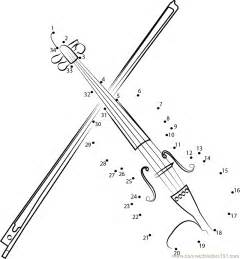 Galerry music dot to dot coloring pages