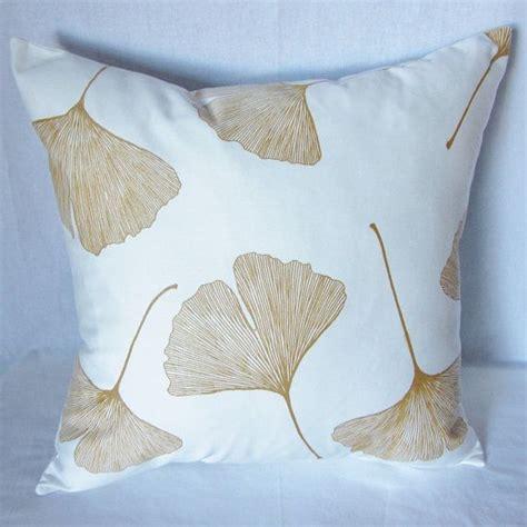 Leaves From Marimekko by Gold Gingko Marimekko Pillow Cover In Authentic Marimekko