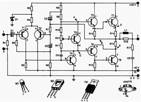 audio lifier circuit diagram with layout audio lifier 90 100w with 2n3773