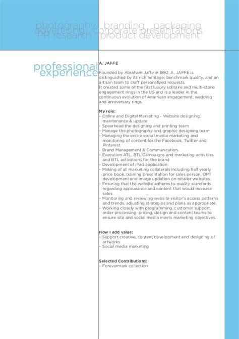 resume folio of bhupesh dolas branding mktg comm
