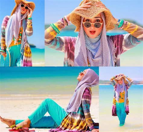 Foto Baju Pantai Muslim gaya busana pantai khusus untuk hijabers shopsmart indonesia medium